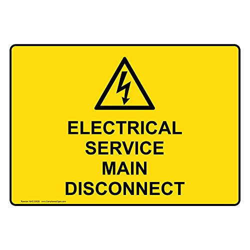 service disconnect sign - 4