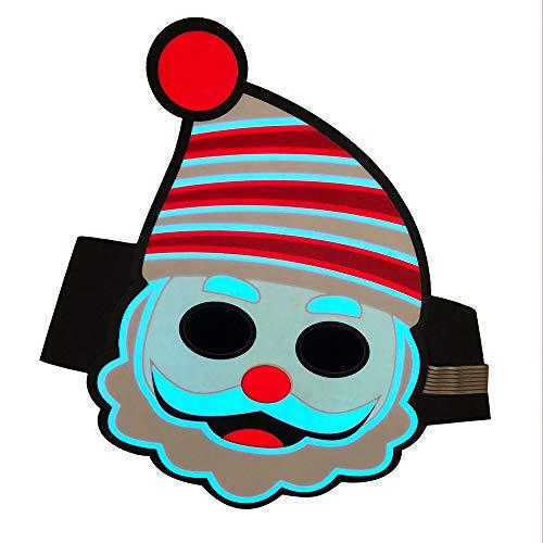 Yezike Christmas Mask Glowing Mask Led Sound Reactive LED Mask Music Light Up Adjustable Mask Toy Birthday Present for Kids (AS Show)