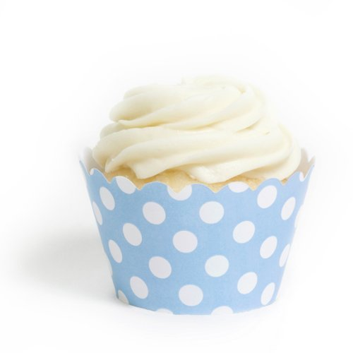 Blue Polka Dot Cupcake Wrappers, Set of 12 ()