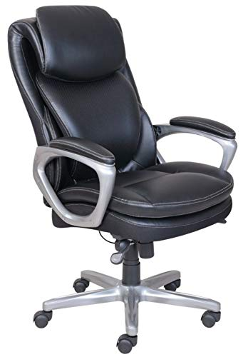 Serta Smart Layers AIR Arlington Executive Chair, Black/Pewter
