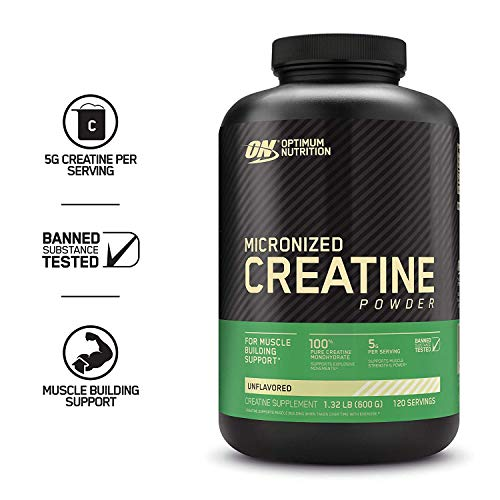 Optimum Nutrition Micronized Creatine Monohydrate Powder, Unflavored, Keto Friendly, 120 Servings (Packaging May Vary) (Creatine Blueberry)