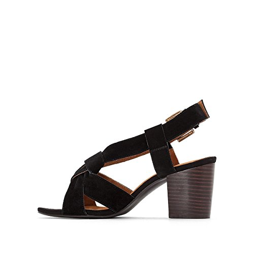 with Redoute Straps Womens La Black Sandals Collections Leather Crossover C6HwXfXqx
