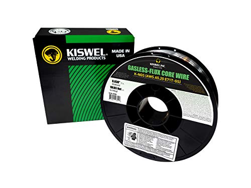 Kiswel USA K-NGS E-71TGS 0.030in. Dia 10lb. Gasless-Flux Core Wire Welding wire Made in USA