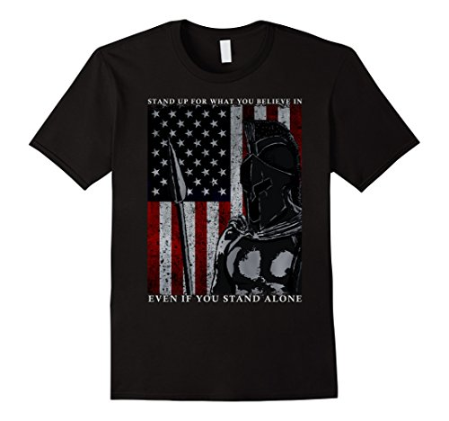 Spartan Warrior American Flag T-Shirt