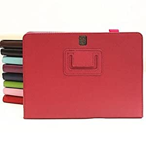 LIMME Leather Case with Stand and Pen Holder for Samsung Galaxy Note 10.1 P600(Assorted Colors) , Pink