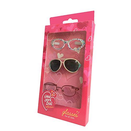 Pack of 3 Doll Glasses for 18 Inch - New Glasses York