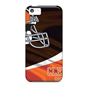 Iphone 5c ICN11526DxaJ Support Personal Customs Colorful Cleveland Browns Image Durable Hard Phone Covers -KennethKaczmarek