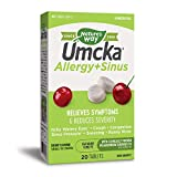 Nature's Way Umcka Allergy and Sinus Homeopathic Chewable Tablets- Cherry Flavor- 20 Count