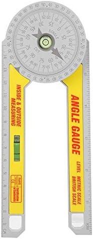 Verstekzaag Gradenboog 360 Graden Hoekzoeker Gradenboog Plastic Hoekmeter met Horizontale Detectie Vloeistofbuis Hoekmeter Binnen Buiten Metrische Britse Schaal Meten
