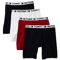 Calzoncillo tipo boxer para hombre Tommy Hilfiger de 4 unidades, rojo /azul marino /blanco, mediano