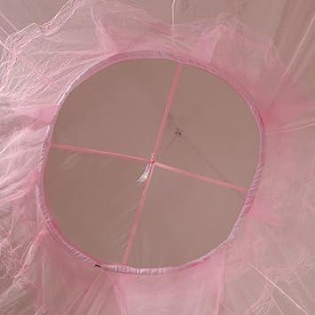 Wohnung 19Kenbeton Sommerabwehrnetz s/ü/ßer Stil Dekoration Fensterb/änke Blau Rosa rose Bettvorh/änge Moskitonetz tragbare H/ängematte f/ür Bett Moskitonetz rund