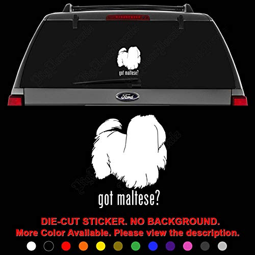 Got Maltese Dog Pet Die Cut Vinyl Decal Sticker for Car Truck Motorcycle Vehicle Window Bumper Wall Decor Laptop Helmet Size- [10 inch] / [25 cm] Tall || Color- Gloss Black