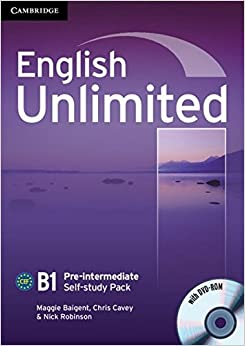 English Unlimited B1 - Pre-Intermediate. Self-study Pack with DVD-ROM