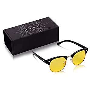 Premium Gamer Glasses and Computer Eyewear - Digital Eye Strain Relief Glasses Block Out Blue Light To Reduce Eye Strain and Promote More Restful Sleep - With UV Protection For Men and Women