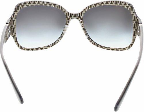 Tory Burch Sunglasses - TY7059 / Frame: Black Stitch Lens: Grey Gradient