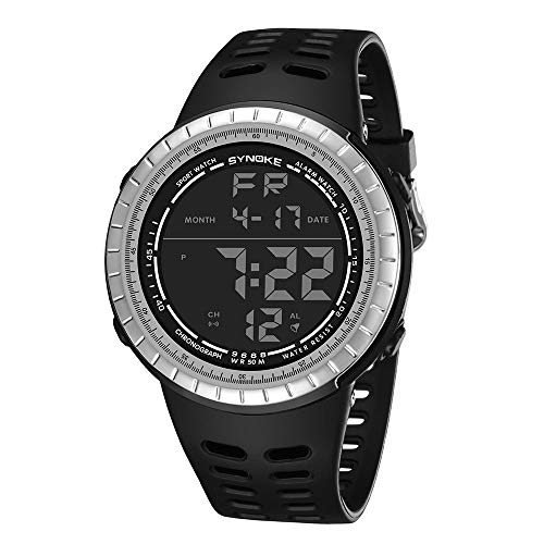 WENSY SYNOKE Multi-Function 50M Waterproof Chronograph Watch LED Digital Double Action Watch
