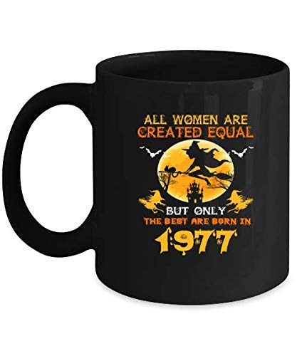 Best Birthday Gifts For Women Who Are Born In 1977. Cool Halloween Witches Mug For Girls Wife Girlfriend