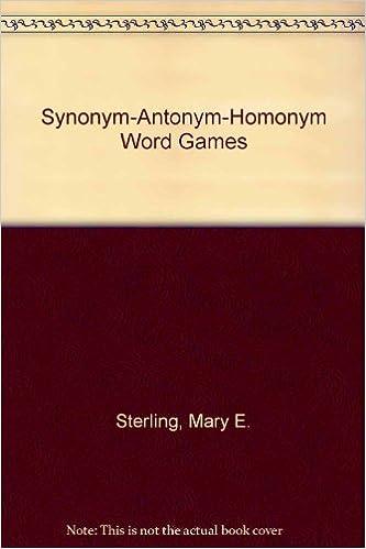 Buy Synonym-Antonym-Homonym Word Games Book Online at Low Prices in
