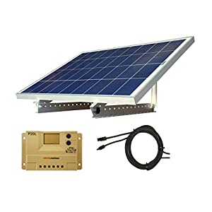 100-Watt-12V-Solar-Panel-Kit-Adjustable-Mount-RV-Cabin-Off-Grid-Battery