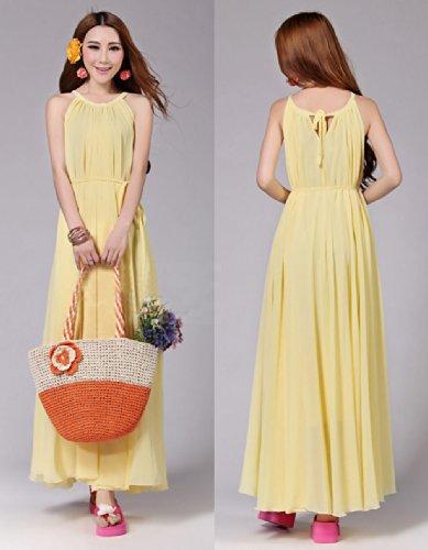 Summer Women Maxi Long Chiffon Sun Beach Ball Gown Evening Party Dress