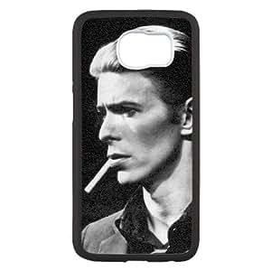 caso de David Bowie V7E63T1BN funda Samsung Galaxy S6 funda E48DBH negro