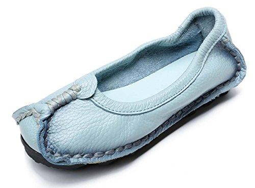 hechos a las de 35 primavera cuero originales mano Zapatos viento otoño nacional madre Azul de de de mujeres planos de Zapatos Zapatos y Tamaño 41 Zapatos SHINIK wfqRaSZt1