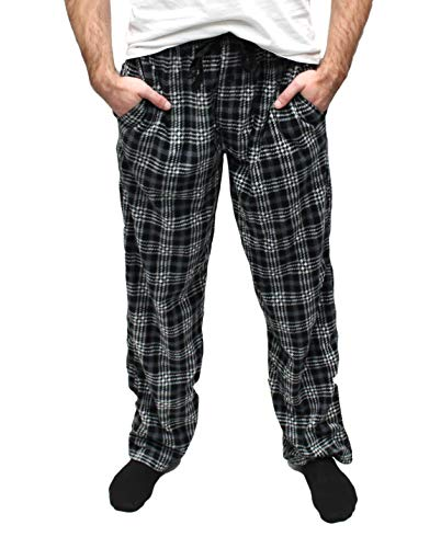 Fruit of the Loom Men's Microfleece Pajama Pant (Medium, Checkered Black) ()