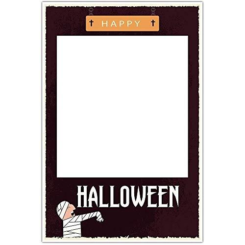 Mummy Halloween Party Selfie Frame Social Media Photo Prop Poster]()