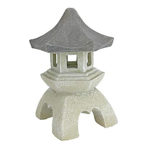 Design Toscano Asian Decor Pagoda Lantern Outdoor Statue, Medium 10 Inch, Polyresin, Two Tone Stone (Renewed) (Pagoda Outdoor Designs)
