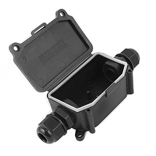 Junction Box - SODIAL(R) IP65 Waterproof Outdoor 2 Way PG9 Gland Electrical Junction Box Black