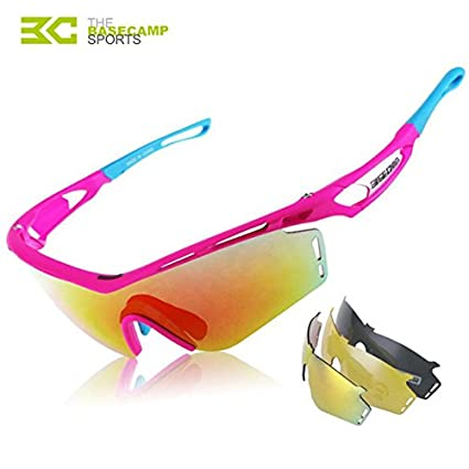 2462342867 Rosy   2018 Cycling Glasses Men Women Polarized Bike Eyewear Bicycle  Goggles Outdoor Sports Bicycle Sunglasses Goggles 3 Lenses BC-111   Amazon.in  Home   ...