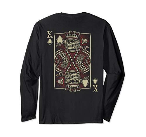 Skull Motorcycle Shirt Biker King of Spades Card Game Poker