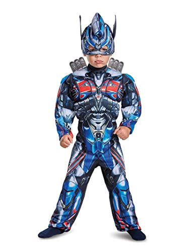 Disguise Optimus Prime Movie Toddler Muscle Costume, Blue, Medium -