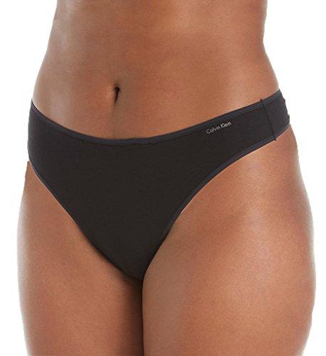 Calvin Klein Plus Size Form Thong, Black, 2X