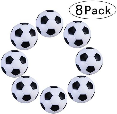 Tadudu Juego de Foosball de Futbol de Mesa, Paquete de 8PCS (Negro y Blanco, 32mm) : Amazon.es: Juguetes y juegos