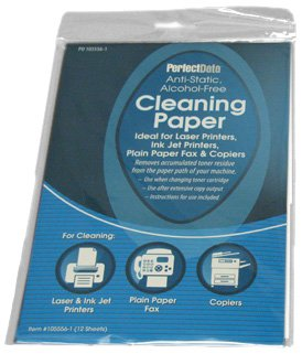 laser fax copy cleaning paper