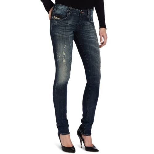 Diesel Women's Grupee Super Skinny Leg Jean 0661S in Denim supplier