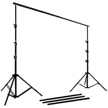 CowboyStudio Photography Backdrop Supporting System with 9 Feet Updated Crossbar and Case