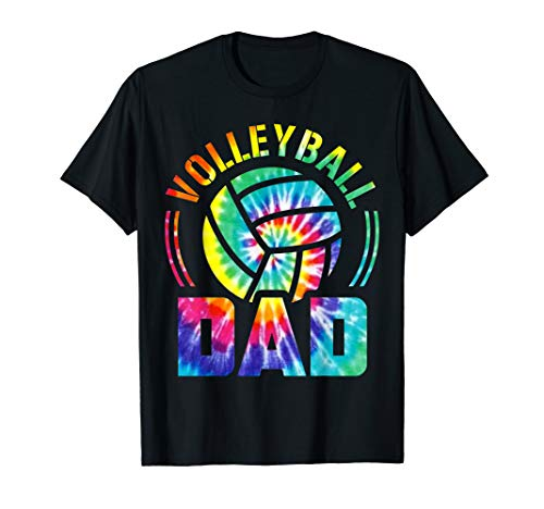Volleyball Dad Father's Day Tie Dye Volleyball Lovers Tee