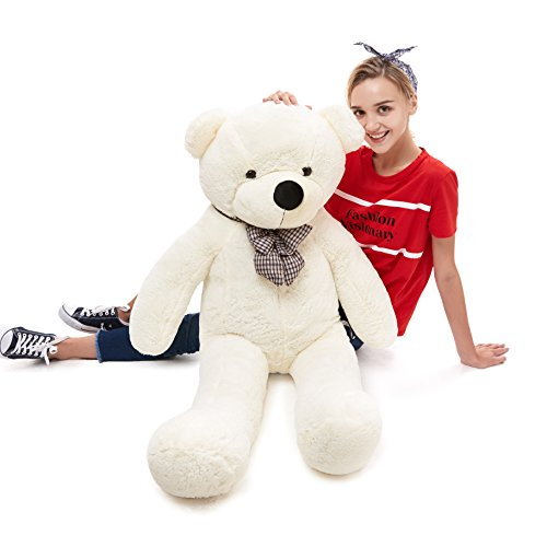 39'' Soft 100% Pp Cotton Toy Giant 100cm BIG Cute White Plush Teddy Bear Huge by Lanna Siam