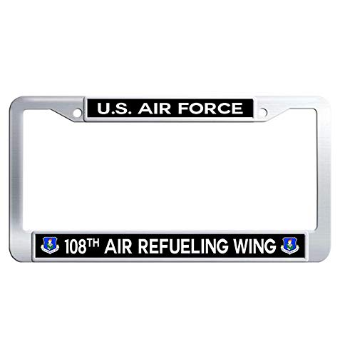 - Hensteelna U.S. Air Force Car License Plate Holder US Air Force 108th Air Refueling Wing Metal License Plate Frame(1 pic, 6' x 12' in)