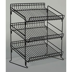 3 Tier Display Stand Black Metal