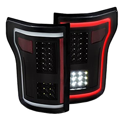 Anzo USA 311285 Tail Light Assembly LED Clear Lens Black Housing Red/White Light Color G2 Pair Tail Light Assembly