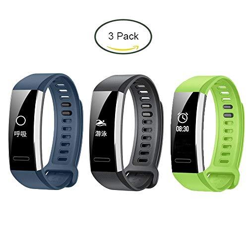 Ceston Silicone Classique Bracelet De Remplacement pour Huawei Band 2 Pro (Bleu): Amazon.fr: High-tech