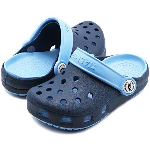 eccbox Kids Clogs Boys Girls Summer Slide Sandals Beach Slippers (11-11.5 M US Little Kid, Dark Blue)
