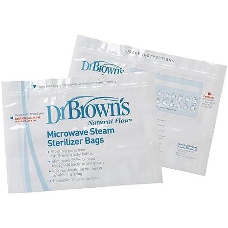 Bolsas Esterilizador a vapor para microondas de Dr. Brown (2 ...