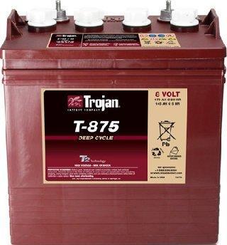 Lot of 6 Trojan T-875 8V Golf cart batteries (Best 8v Golf Cart Batteries)