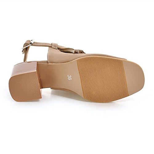 RAZAMAZA Zapatos Sandalias Correa Back apricot Mujer rH1xwIrPqR