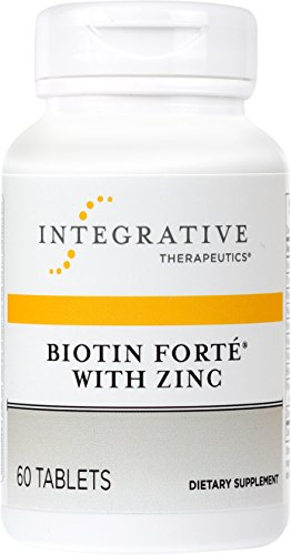 Yeast Therapy 60 Tablets (Integrative Therapeutics - Biotin Forte with Zinc - Complete B Vitamin Complex with 3 mg of Biotin - 60 Tablets)