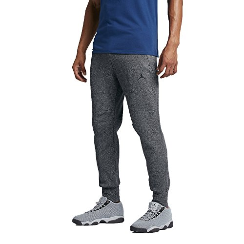 Jordan Icon Fleece Cuffed Sweatpants (L, Black/Black)
